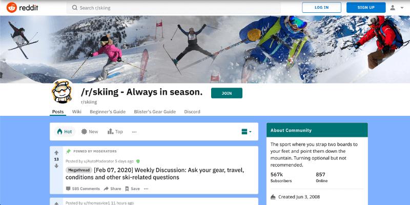 Reddit skiing