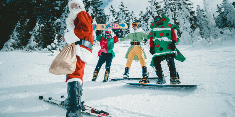 skiing vs. snowboarding